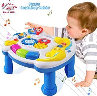 HOMOFY Homof Baby Toys Musical Learning Table 6 Months Up-Early Education Music Activity Center Game Table Toddlers, Infan...