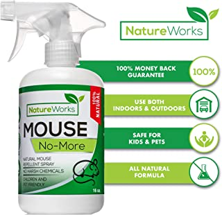 Mouse No-More I Mice Repellent Spray I Mouse Rat Squirrel & Rodent Defense I Vehicle Protection Car RV & Boat I Indoor & Outdoor I Peppermint Oil | Trap & Poison Alternative | Natural Non-Toxic | 16oz