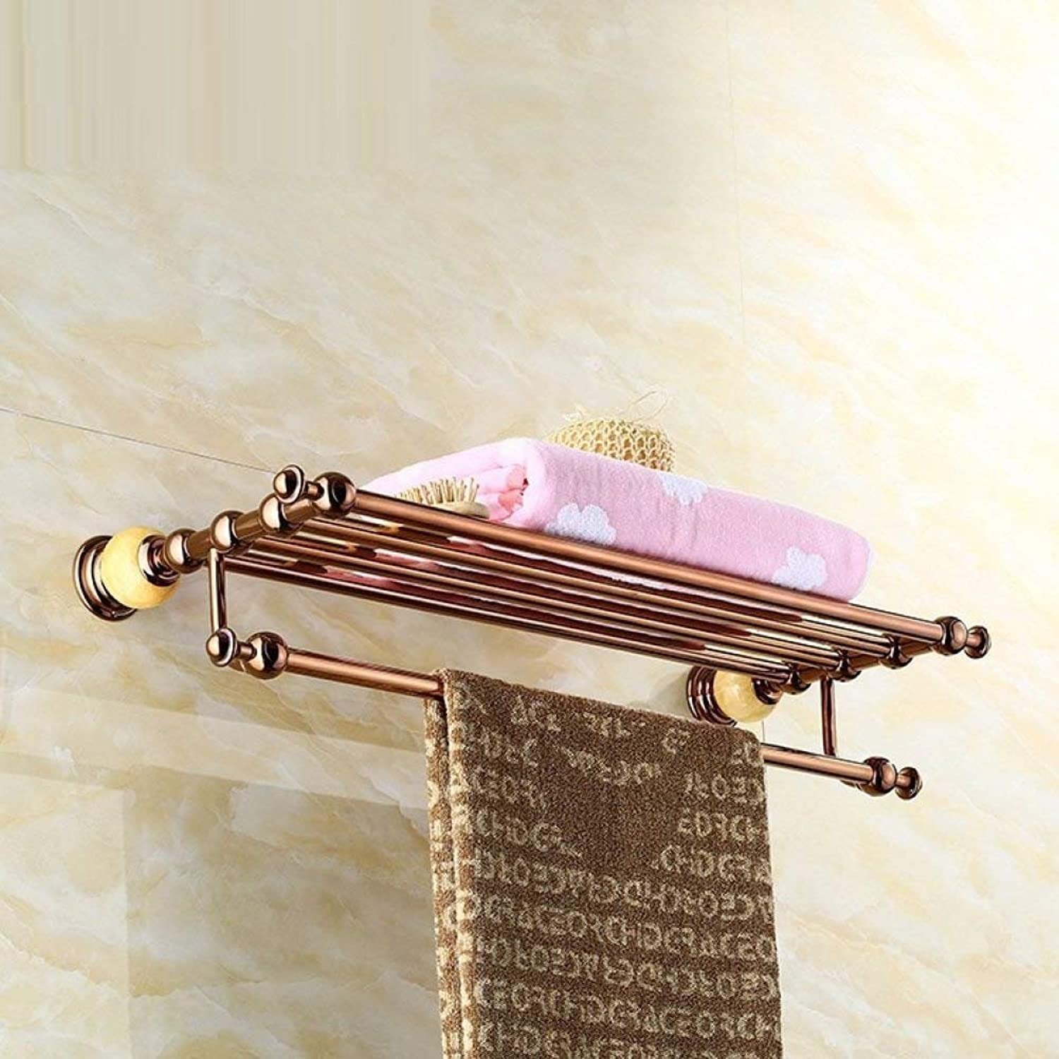 Retro Style Door European-Heated Towels, of a Copper Alloy of The Drilling Platform, Home and Bathroom, Corrosion of The Luxury Hotel Top of Range Decorative Accessories,B,Length 60cm
