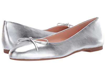 J.Crew Metallic Soft Ballet Flat (Metallic Silver) Women
