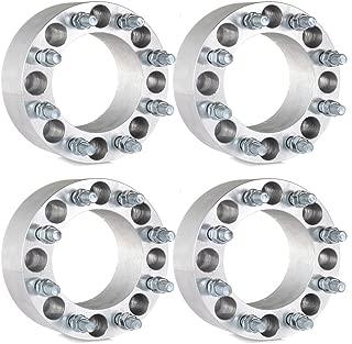ECCPP 4X 8 Lug 3 Wheel Spacers 8x6.5 to 8x6.5 126.15mm 14x1.5 Fits for GMC K3500 K2500 Sierra 3500 HD Chevrolet 3500 HD 2500HD 1500HD