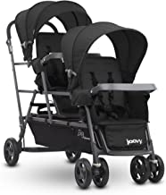 Joovy Big Caboose Graphite Stand On Triple Stroller, Black