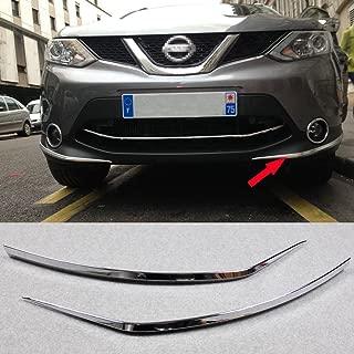 Generic Fit For Nissan QASHQAI 2014-2017 Chrome Front Bumper Corner Edge Guard Cover Trim