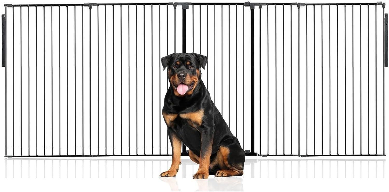 Bettacare Premium Multi Panel Flexible Pet Barrier (Upto 334cm (105cm Tall), Black)