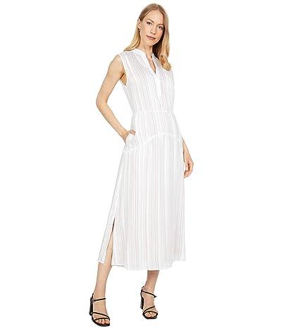 Vince Drapey Stripe Tiered Dress