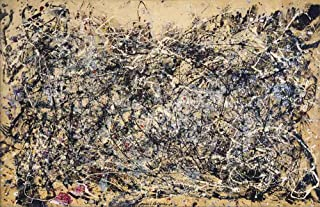 Jackson Pollock Number 1, 1948 - Original Abstract Canvas Paintings Hand Painted Reproduction Rolled - 120X80 cm (Approx. 48X32 inch) for Wall Decoration