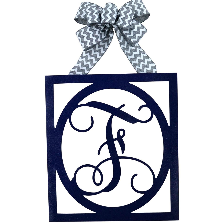 Special price Initial Monogram Door Spasm price Hanger Gift for Framed Wood Letter Mom