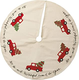 Primitives By Kathy Cotton Tree Skirt Truck, 36