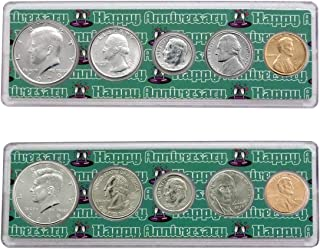 1979-2019 40th Anniversary Year Coin Set in Happy Anniversary Holders Uncirculated