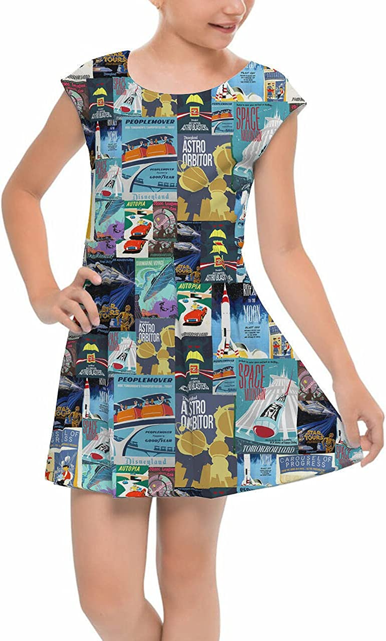 Girls 5% OFF Cap Sleeve Pleated Dress Attraction - Vintage Tomorrowland cheap