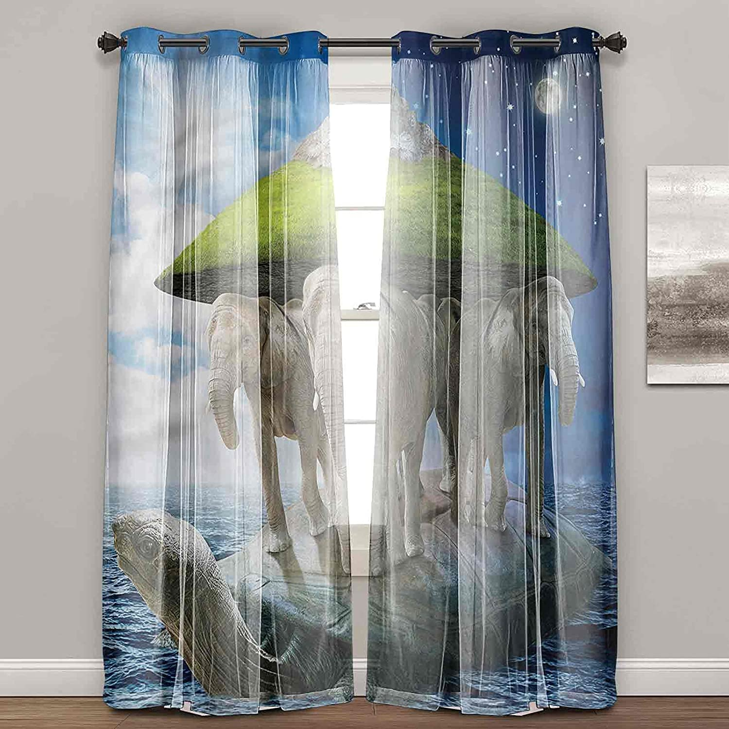 Curtains for Bedroom Fantasy Turtle 70% OFF Outlet Drapes s Livi Bombing free shipping Carrying