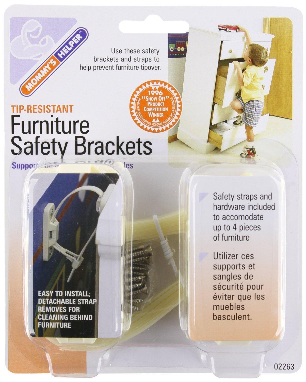 Mommy's Helper - Tip Resistant Furniture Safety Brackets, (2 Pack)