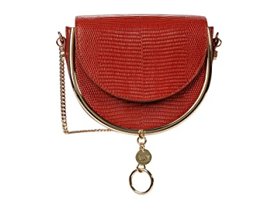 See by Chloe Mara Evening Bag Suede Combo (Faded Red) Cross Body Handbags
