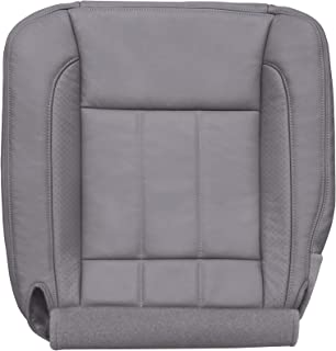 The Seat Shop Driver Bottom Perforated Leather Seat Cover (P1 with Flap) - Medium Slate Gray Leather (Compatible with 2006-2008 Dodge Ram Laramie and 2009 Laramie 2500/3500 only)