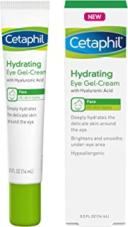 Cetaphil Hydrating Eye Gel-Cream With Hyaluronic Acid - Designed to Deeply Hydrate, Brighten & Smooth Under-Eye Area - For All Skin Types - Hypoallergenic & Suitable for Sensitive Skin - 0.5 Fl. Oz