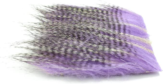 4 pcs 20X10cm Furabou Craft Fur Barred Soft Synthetic Fiber Fly Tying Materials