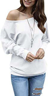 Imysty Women's Sweaters Off The Shoulder Oversized Long Sleeve Knit Jumper Baggy Pullover Tops