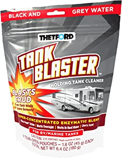 Thetford 96527 Blaster Holding Tank Cleaner Pouches, 1.6 oz, White (Pack of 4)