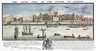 Tower Of London 1737 NThe South View Of The Tower Of London Line Engraving English 1737 Poster Print by (24 x 36)