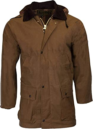 cebcfb763f2 Walker   Hawkes - Mens Unpadded Wax Jacket Countrywear Hunting Waxed Coat -  Beige