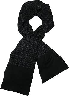 Michael Kors Men's Repeat Logo Jacquard Scarf, Black