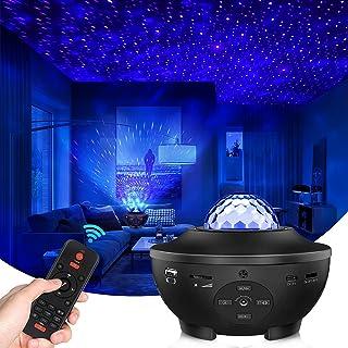 پروژکتور گلکسی پروژکتور ستاره پروژکتور نور شب با بلوتوث کنترل کننده بلندگو موسیقی Voice Control Timer 2021 جدیدترین ستاره های آبی Galaxy 360 Pro Galaxy Light برای اتاق خواب / هدیه / ستاره های آبی Kids کودکان)