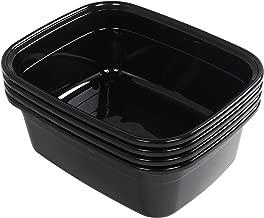 Anbers 14 Quart Dish Pan, Black, 4-Pack