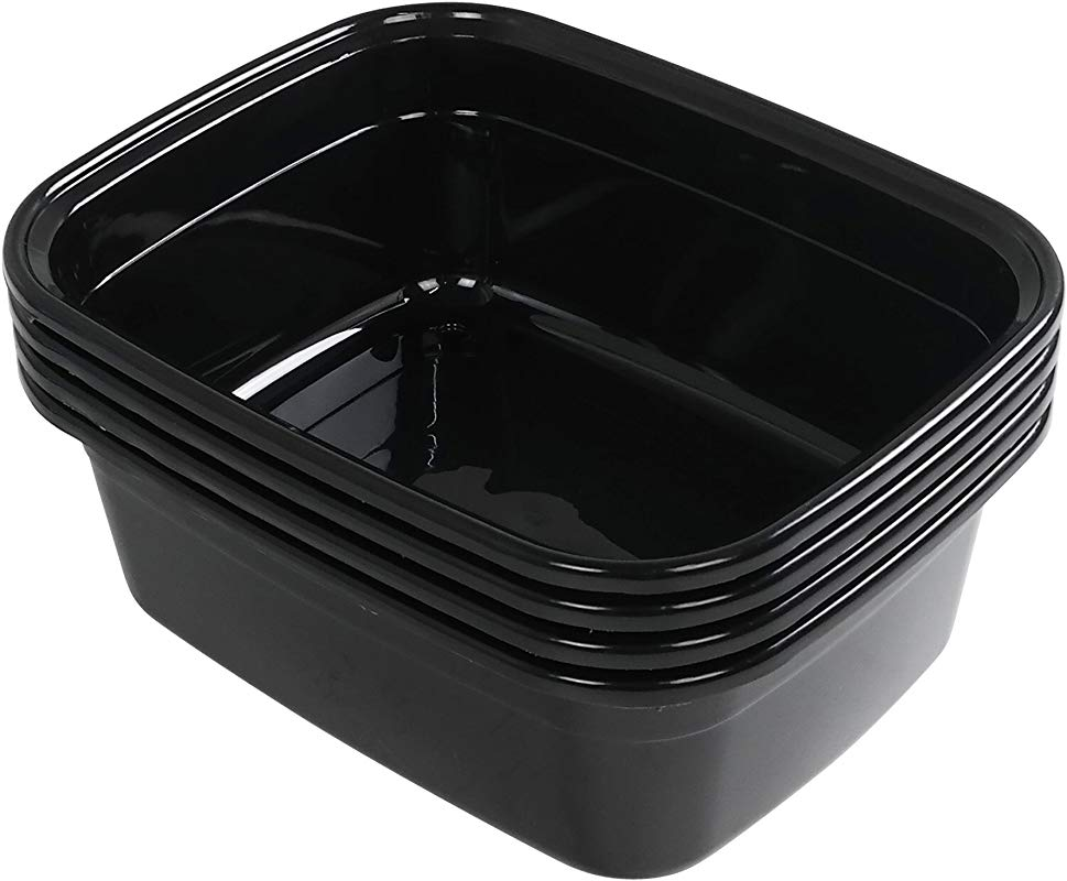 Anbers 14 Quart Dish Pan Black 4 Pack