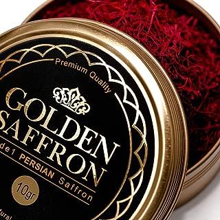 Golden Saffron, Finest Pure Premium All Red Saffron Threads, Grade A+, Highest Grade (10 Grams)