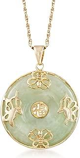 Best green jade pendant necklace Reviews