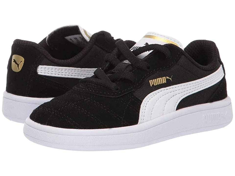 Puma Kids Astro Kick Slip-On (Toddler) (Puma Black/Puma White/Puma Team Gold) Kids Shoes
