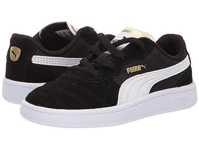 Puma Kids Astro Kick Slip-On (Toddler) (Puma Black/Puma White/Puma Team Gold) Kids Shoes