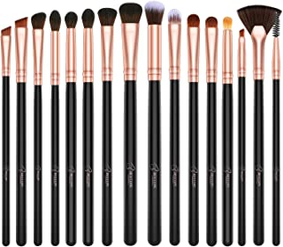 BESTOPE Eye Makeup Brushes, 16 Pcs Professional Eye Brush Set Eyeshadow, Eyebrow, Blending, Fan, Eyelash, Make Up Brushes with Premium Wooden Handles & Soft Synthetic Hairs