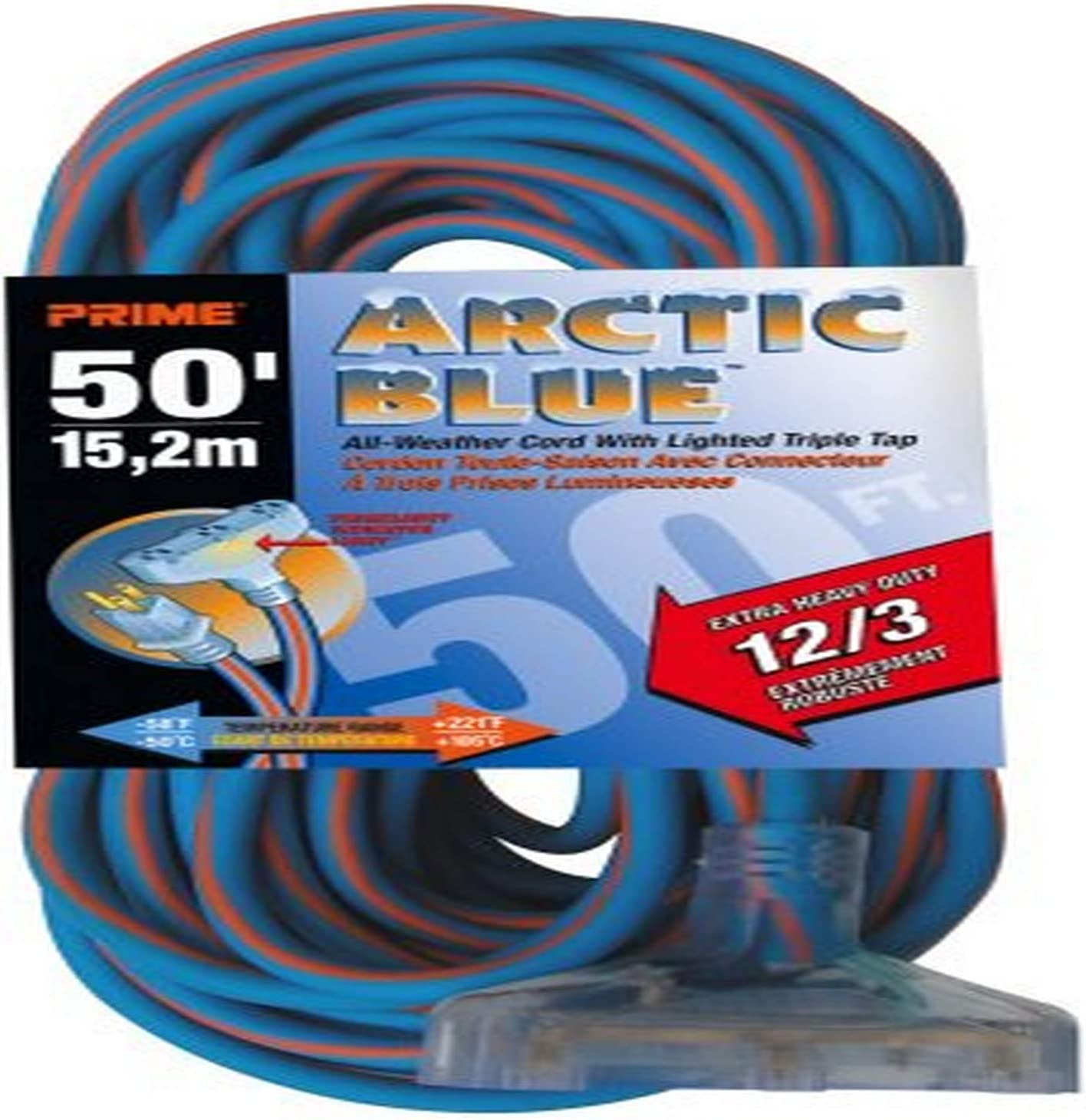 Prime LT630830 Ultra Heavy Duty 50-Foot Triple Al Easy-to-use Artic Tap Blue excellence