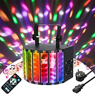 LED PAR Licht,SOLMORE LED DJ Licht PA Licht BlitzLicht Par Lichter Disco Lichteffekte 9 Color Stroboskop Lampe Bühnenbeleuchtung Musikgesteuert Projektor mit Fernbedienung 7 Kanal für KTV Party RGB