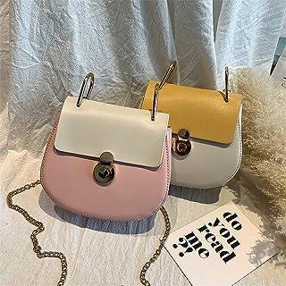 ZZZ Shoulder Bag Women's Bag Fashion Hit Color Chain Piggy Bag Korean Version Ins Wild Messenger fashion (Color : Pink)