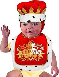 Forum Novelties Girls' Baby Costume Bib & Crown Set, Queen, One Size