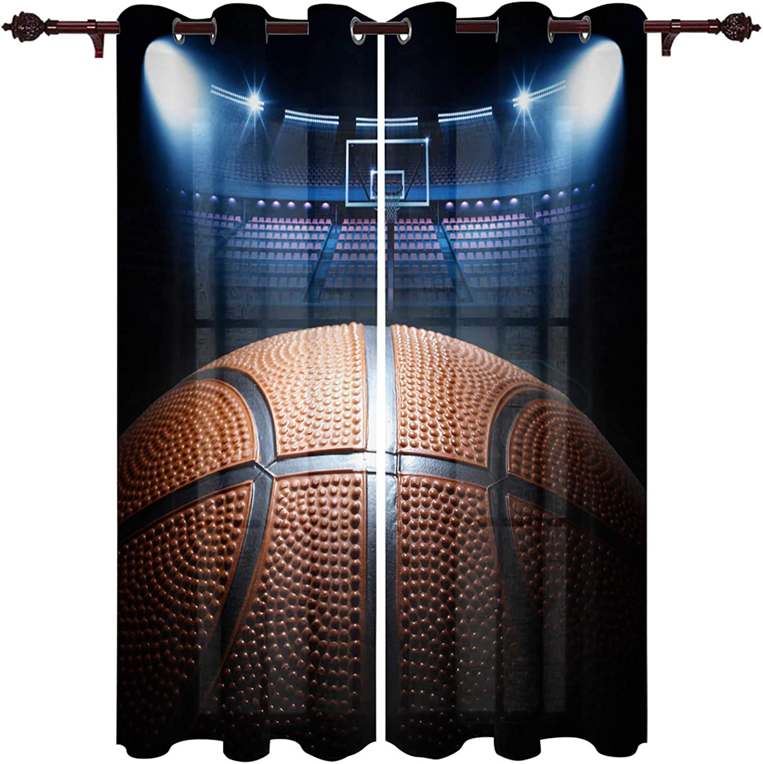 25% OFF Sale Infinidesign Basketball Window Curtains 2 Panels Assure Privacy