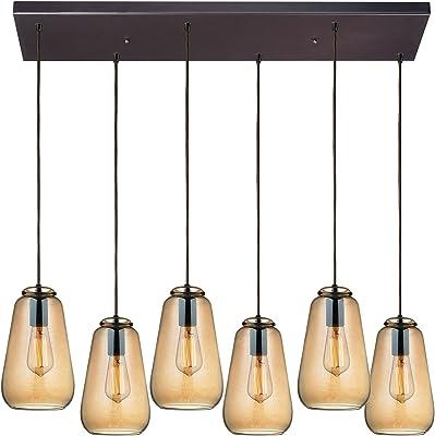 Elk Lighting 10433/6RC Pendant Light, Oil Rubbed Bronze