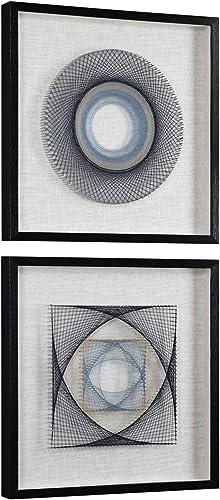 "new arrival Uttermost String 2021 Duet 2-Piece 23 3/4"" popular Square Framed Wall Art Set outlet sale"