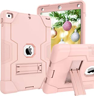 iPad 6th Generation Cases, iPad 9.7 Case DOMAVER iPad 5th Generation Case with Kickstand Heavy Duty Shockproof Rugged Drop Protection Cover for iPad 9.7 2017/2018 (A1893 / A1954 / A1822 / A1823)