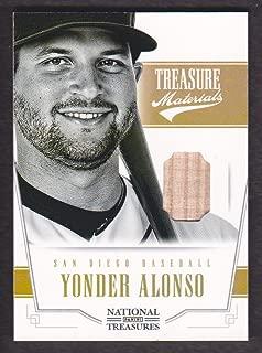 2012 Panini National Treasures Baseball Treasure Materials #50 Yonder Alonso Bat /99 SD Padres