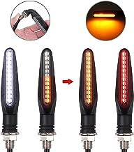 Justech 4PCS Luces Intermitentes de Motocicleta 24LEDs Luces de Señal de Giro Luz Indicador Luces de Freno traseras Luces de Circulación Diurna para Motocicleta Universal 12V