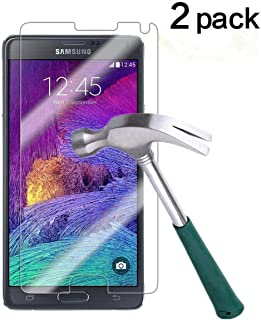 TANTEK YYY26 Bubble-Free, Anti-Scratch, Anti-Fingerprint Tempered Glass Screen Protector for Samsung Galaxy Note 4-2 Piece