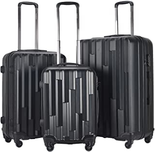 b43352f20 Goplus Luggage Set of 3 Carry On Lightweight ABS Hardside Travelling  Trolley Suitcase