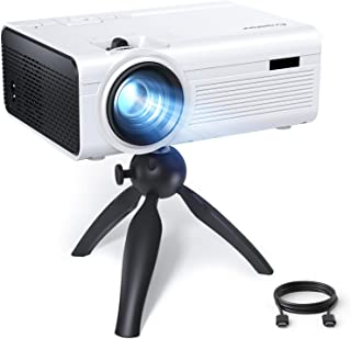 Portable Projector, Crosstour Mini Projector with Tripod, Home Movie Theater, HD Video Projector with 55,000 Hrs LED Lamp ...