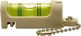 アカツキ製作所 (Kod) 携帯気泡管水平器 水平くんプラス ボディ:白 気泡管:黄 SU-WY