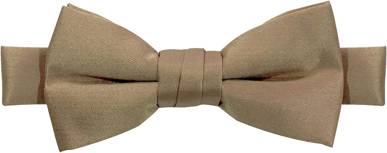 Jacob Alexander Boys Kids Pretied Banded Adjustable Solid Color Bowtie