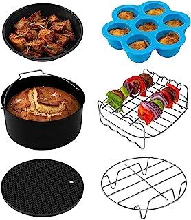 COSORI Accessories, Set of 6 Fit All 3.7Qt, 4.2Qt Air Fryer, BPA Free, Dishwasher Safe, Nonstick Coating