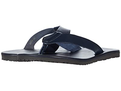 Massimo Matteo Leather Thong Sandal (Navy Blue) Men